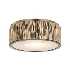 Hudson Valley Lighting Crispin Aged Brass LED Flushmount Light