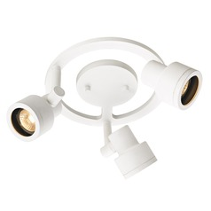 3-Light Stepped Cylinder Round Spot Light - White - GU10 Base