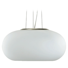 Quorum Lighting Satin Nickel Pendant Light with Bowl / Dome Shade