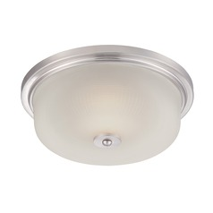 Designers Fountain Orono Satin Platinum LED Flushmount Light