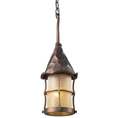 Outdoor Hanging Light in Antique Copper Finish