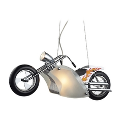 Motorcycle Pendant Light