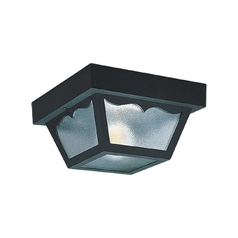 Close To Ceiling Light with Clear Glass in Clear Finish