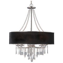 Golden Lighting Echelon Chrome Crystal Chandelier