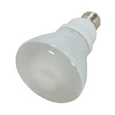 Satco Lighting 15-Watt R30 Cool White Reflector Compact Fluorescent Light Bulb S7248