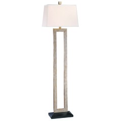 Linear Floor Lamp with Rectangle White Shade