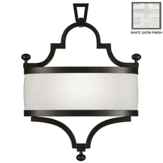 Fine Art Lamps Black + White Story White Satin Lacquer Sconce