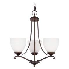 Capital Lighting Chapman Burnished Bronze Mini-Chandelier