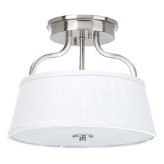 Progress Lighting Arden Brushed Nickel Semi-Flushmount Light