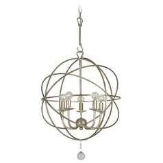 Crystorama Lighting Solaris Olde Silver Pendant Light
