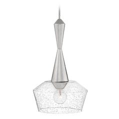 Hinkley Lighting Bette Polished Nickel Pendant Light with Bowl / Dome Shade