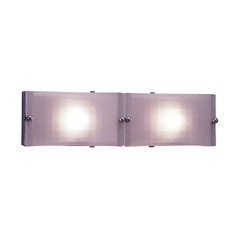 Modern Bathroom Light with White Glass in Polished Brass Finish