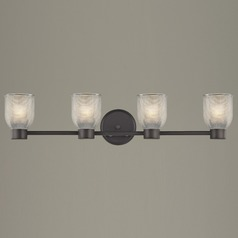 Prismatic Glass Bathroom Light Bronze Aon Fuse