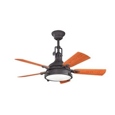 Kichler Lighting Kichler Lighting Hatteras Bay Patio Distressed Black Ceiling Fan with Light 310101DBK