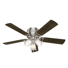 Hunter 52-Inch Prim Brushed Nickel Ceiling Fan with Light