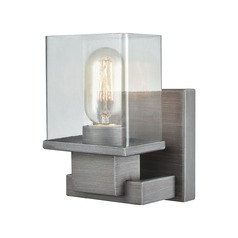 Elk Lighting Hotelier Weathered Zinc Sconce