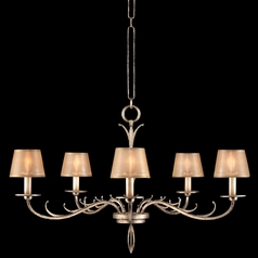 Fine Art Lamps Portobello Road Platinized Silver Chandelier