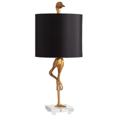 Cyan Design Ibis Ancient Gold Table Lamp with Drum Shade