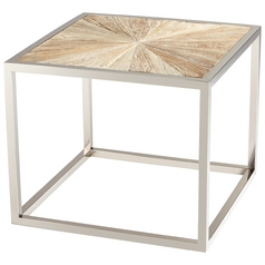 Cyan Design Aspen Black Forest Grove & Chrome Coffee & End Table