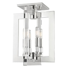 Wellington 4 Light Semi-Flushmount Light - Polished Nickel