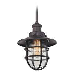 Elk Lighting Seaport Oil Rubbed Bronze Mini-Pendant Light with Bowl / Dome Shade