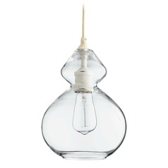 Quorum Lighting Persian White Mini-Pendant Light with Bowl / Dome Shade