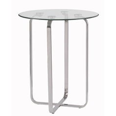 Kenroy Home Arpeggio Stainless Accent Table