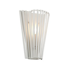 Troy Lighting Tides Textured White Sconce
