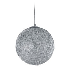 Arnsberg Thunder Aluminum LED Pendant Light with Globe Shade