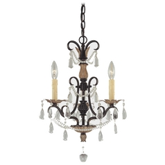 Mini-Chandelier in Distressed Bronze Finish
