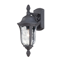 Minka Lighting Outdoor Wall Light with Clear Glass in Black Finish 8997-66