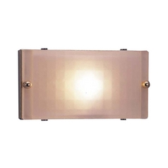 Modern Sconce Wall Light with White Glass in Polished Brass Finish