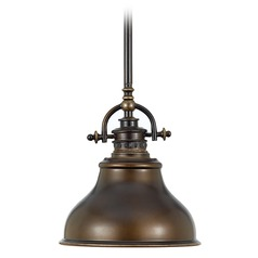 Nautical Mini-Pendant Light in Bronze Finish