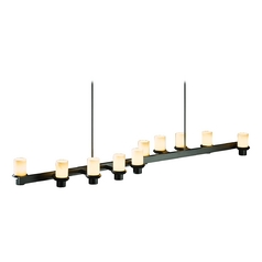 Iron Linear Pendant Light with 10 Lights