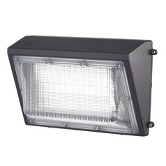 LED Wall Pack Bronze 100-Watt 10500 Lumens 5000K 110 Degree Beam Spread