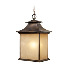 Elk Lighting San Gabriel Hazlenut Bronze Outdoor Hanging Light