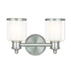 Livex Lighting Middlebush Brushed Nickel Bathroom Light