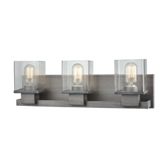 Elk Lighting Hotelier Weathered Zinc Bathroom Light