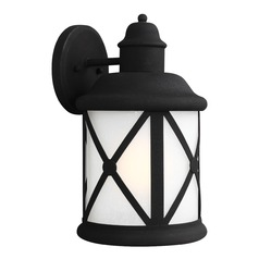 Sea Gull Lighting Lakeview Black LED Outdoor Wall Light