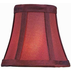 Burgundy Bell Lamp Shade with Clip-On Assembly