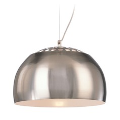 George Kovacs Brushed Nickel Mini-Pendant Light with Bowl / Dome Shade