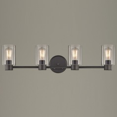 Industrial Aon Fuse Bronze Bathroom Light