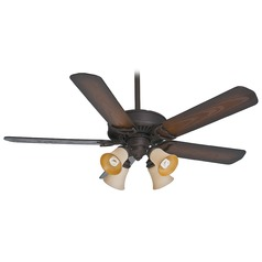 Casablanca Fan Panama Gallery Bright Brass Ceiling Fan with Light