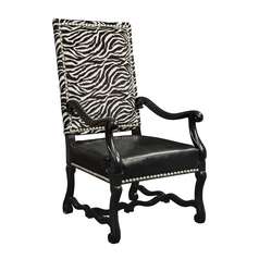 Sterling Lighting Satin Nickel / Ebony Chair