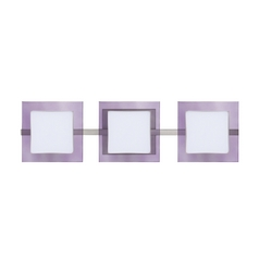 Modern Bathroom Light Purple Glass Satin Nickel by Besa Lighting
