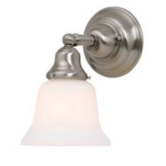 Fluorescent Sconce with Bell Glass Shade