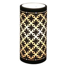 Accent Lamp with Black Porcelain Shade