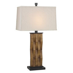 Table Lamp with Rectangle Shade