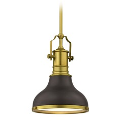 Farmhouse Small Pendant Light Bronze / Brass 8.63-Inch Wide