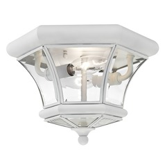Livex Lighting Monterey/georgetown White Flushmount Light